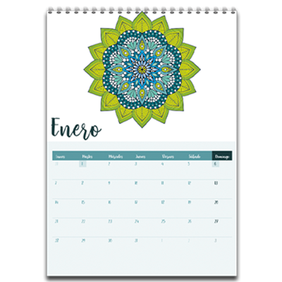 Calendario Pared Modelo 1 Wire-O (Mandala)