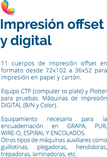 IMPRESION OFFSET Y DIGITAL